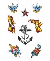 Plak tatoeages matroos