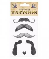 Plak tatoeages snorren thema