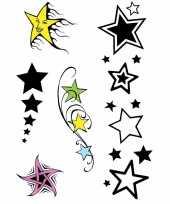 Plak tatoeages sterren print