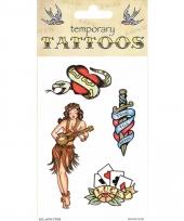 Plak tatoeages traditioneel thema 10090836