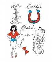 Plak tatoeages zeeman thema