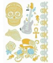 Plak tattoo doodshoofden