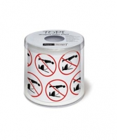 Plas niet op de toiletbril wcpapier