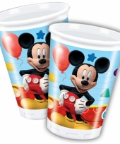 Plastic bekertjes mickey mouse 200 ml