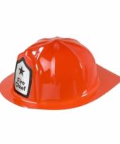 Plastic brandweer helm rood
