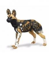 Plastic dieren afrikaans wild hondje 9 cm