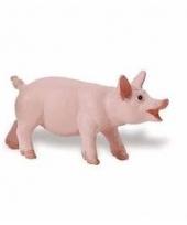 Plastic dieren biggetje varkentje 6 cm