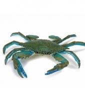 Plastic dieren blauw krabje 18 cm
