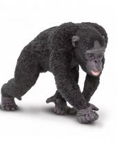 Plastic dieren chimpansee aap 10 cm