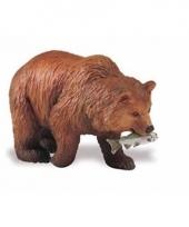Plastic dieren grizzly beer 8cm