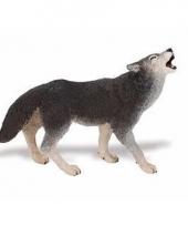 Plastic dieren huilend wolfje 9 cm