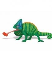 Plastic dieren kameleon 23 cm