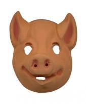 Plastic dieren maskers varken