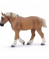 Plastic dieren paardje brabants belgisch trekpaard 13 cm