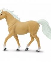 Plastic dieren paardje palomino mustang hengst 14 cm