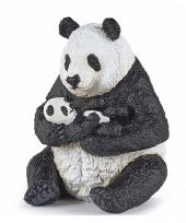 Plastic dieren panda met baby 8 cm