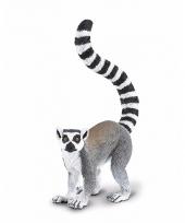 Plastic dieren ringstaartmaki aapje 10 cm