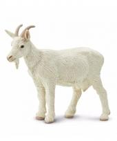 Plastic dieren wit geitje 8 cm