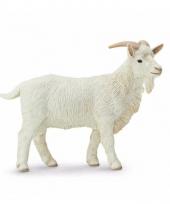 Plastic dieren wit geitje 9 cm