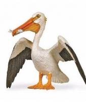 Plastic dieren wit pelikaantje 6 cm