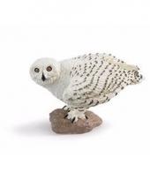Plastic dieren wit sneeuwuiltje 6 cm