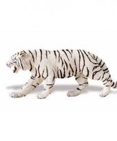 Plastic dieren wit tijgertje 15 cm