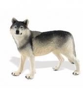 Plastic dieren wolfje13 cm