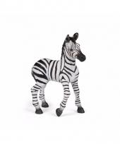 Plastic dieren zebra jong 9 cm
