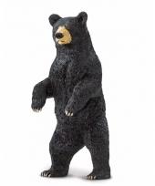 Plastic dieren zwart beertje 10 cm
