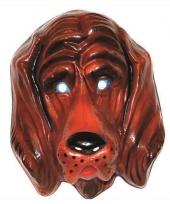 Plastic honden masker voor volwassenen 10073373