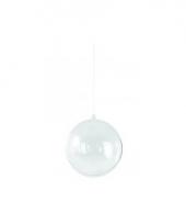 Plastic kerstbal vulbaar 14 cm