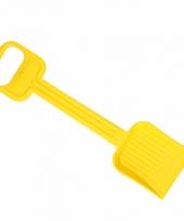Plastic kinder schep 54 cm geel