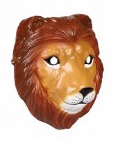 Plastic leeuwen masker 3d van 22cm