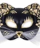 Plastic oog masker in de vorm van een kat