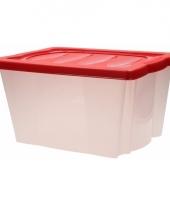 Plastic opbergdoos met rode deksel