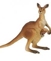 Plastic papo dier kangoeroe met baby 8 cm