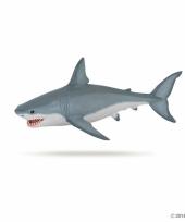 Plastic papo dier witte haai 19 cm