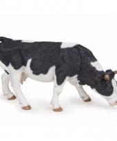 Plastic papo grazende koeien zwart wit 14 cm