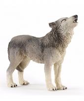 Plastic papo huilende wolf 9 cm