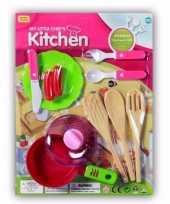 Plastic poppen keuken gerei speelgoed