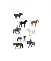 Plastic speelgoed paard en ruiters