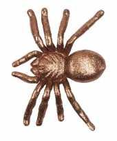 Plastic spin met gouden glitters 20 cm