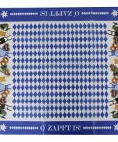 Plastic tafelkleed oktoberfest 80 x 80 cm