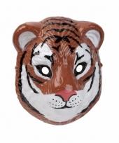 Plastic tijger masker 3d van 22cm