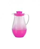 Plastic waterkan met koelstaaf roze