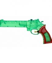 Plastic waterpistool gekleurd 28 cm
