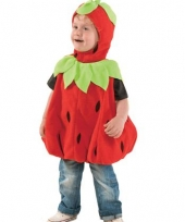 Pluche aardbeien peuter outfit