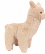 Pluche alpaca knuffel beige 17 cm