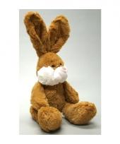 Pluche bruin knuffel konijn 22 cm