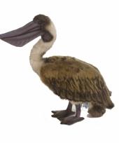 Pluche bruine pelikaan